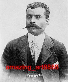 Original Signed Mexico Painting Emiliano Zapata Salazar
