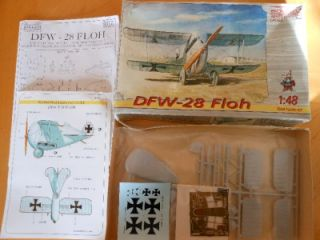 Eduard 1/48 WWI German DFW 28 Experimental Fighter Floh Kit
