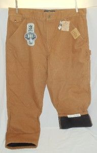 Mens Elkmont Thermal Lined Canvas Hunting Fishing Pants Carpenter