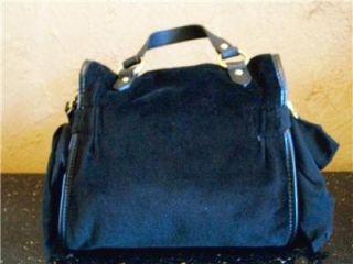 Juicy Couture Black Zip Bag Tote Satchell Shoulder Bag Purse Handbag $