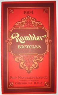 ANTIQUE BICYCLE CATALOG Vintage Pope Rambler Cycling Bicycling Bike