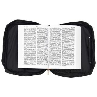 Embassy Solid Genuine Leather Bible Cover Mathew 28 11
