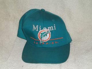 Dolphins Snap Back Snapback Hat Cap Team NFL EastPort Retro Green