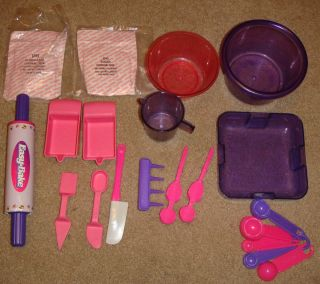 Easy Bake Oven Bowls Measuring Spoons Cups Mixes
