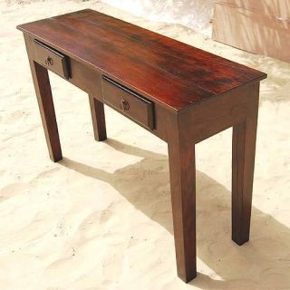 Mahogany Solid Wood Storage Drawers Console Hall Entry Way Foyer Table