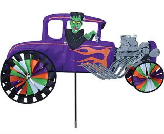 Spinner Roadster Rage Hot Rod Car Yard Lawn Windspinner Decor