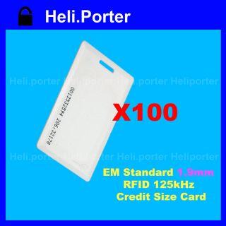 100 Pcs 125Khz RFID ID Card Proximity ISO Card EM4100 Compatible Cards