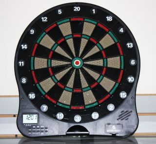 Sportcraft Electronic Dart Board Clock Dartboard