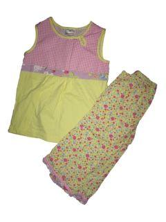 Girl Hanna Andersson Emmas Garden Top Shirt Capri Pants Set Size 110