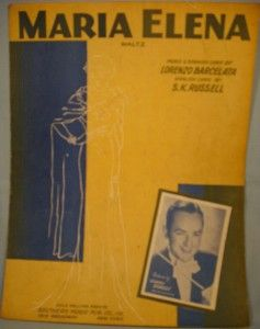 vintage 1941 maria elena sheet music jimmy dorsey