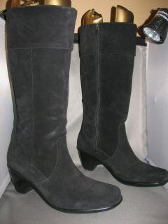 WOMENS DANSKO RISA Black Suede Tall Cuff Boot Size 41 US 10 5 11