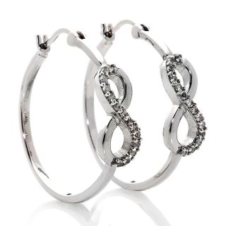 True Blood Jewelry .42ct White Topaz and Sterling Silver Infinity Hoop