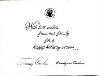 President Jimmy Carter White House Christmas Card