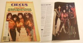 Kiss Paul Stanley Gene Simmons Eric Carr Circus Magazine Oct 1980 RARE