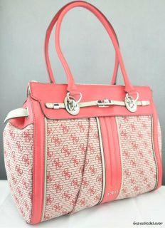 New Guess Ladies Handbag Adelisa Red LG Bag Purse USA