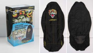 ed hardy tiger high back front seat covers 2pc set
