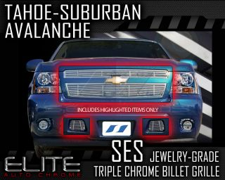 2007 2012 Chevy Tahoe SES Chrome Billet Grille (top & bottom)