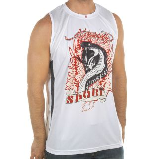 Ed Hardy White Mens Cobra Mesh Tank Top White