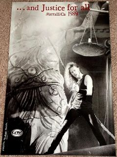 Metallica James Hetfield Live 1989 Justice Tour Poster