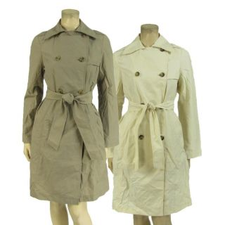 Gap Lightweight Trench Coat Jacket Belted Belt Double Breasted XS s M