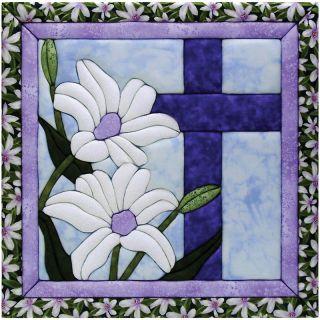 Quilt Magic No Sew Wall Hanging Kit   12 x 12 Cross