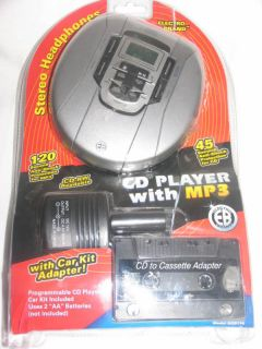Electro Brand Portable CD Player w Car Kit and
