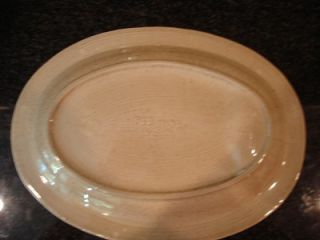 red wing usa pottery meat steak platter plate