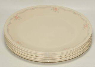 Vtg Corning Corelle ENGLISH BREAKFAST Dinnerware Lg Lot Set of 10