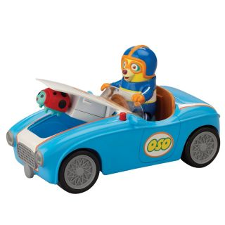 Disney Special Agent OSO   Osos Go Go Go Race Car , NEW + ACTION