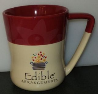 Edible Arrangements Daisy Mug Large Red Coffee Cup