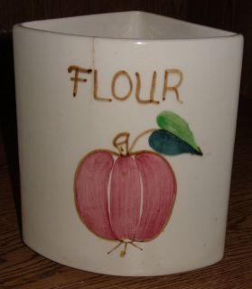 POTTERY CANISTER PURITAN FRUIT DESIGN ESMOND USA Replacement Flour
