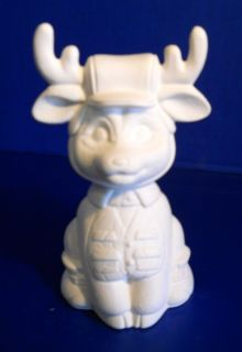 Unpainted Ceramic Bisque Deer Hunter Hunting Deer
