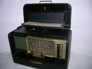 ZENITH VINTAGE RECONDITIONED TRANS OCEANIC AM SHORTWAVE RADIO L 600