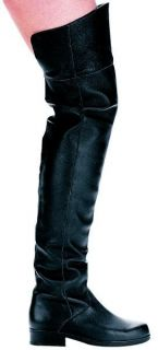 Ellie Shoes Thigh High Black Leather Mens Boot 1 Heel 125 Tyler BLKL