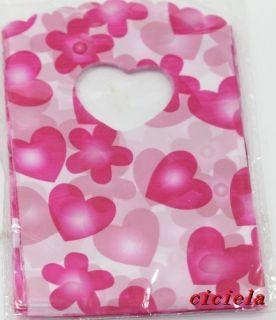 Very beautiful flowers heart pattern environmental plastic gift bag