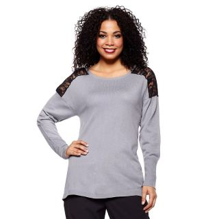 207 394 queen collection lace trim boat neck sweater note customer