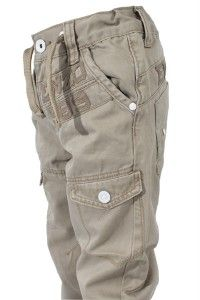 New Infants Babies Boys Enzo Kids Cuffed Leg Chinos Jeans Beige Ages