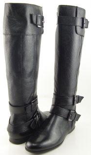 Enzo Angiolini Zenzi Black Leather Womens Designer Riding Knee High