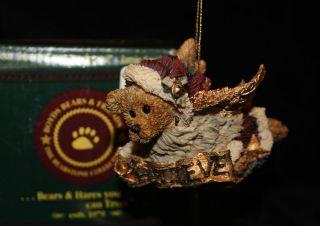 Edmund Believe Boyds Bears Angel Ornament with Box Retired