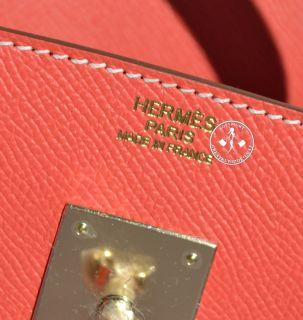30 Hermes Birkin Bag Rose Jaipur Epsom Gold Lining Permabrass 9817