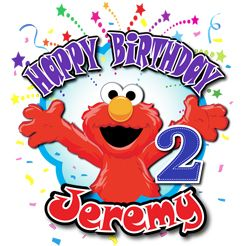 Elmo Custom Personalized Birthday T Shirt