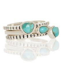 studio barse set of gem sterling silver stackable rings d