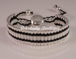 Friendship Bracelet One Direction White Black Brand New Beauty USA