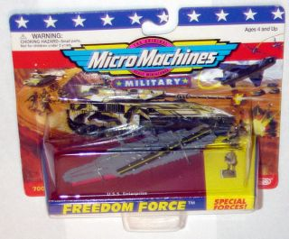 Micro Machines 1996 Single Carded USS Enterprise Aircraft Carrier MOC