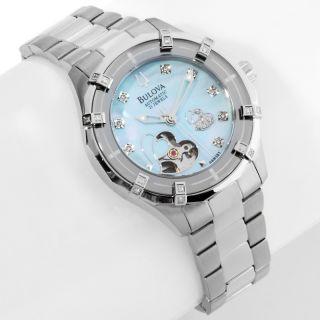 Jewelry Watches Womens Bulova Ladies Open Heart Diamond