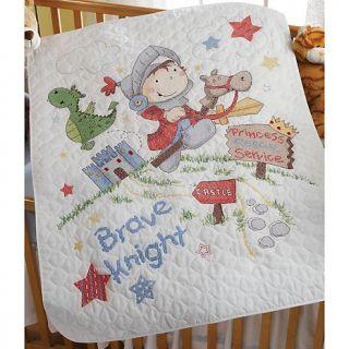 Knight Crib Cover Cross Stitch Kit   34 x 43in