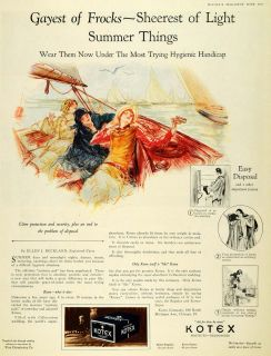 1927 Ad Ellen J Buckland Nurse Kotex Sanitary Pads Original