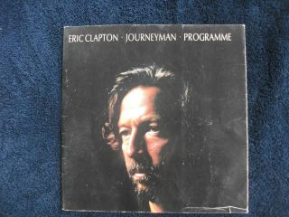 Eric Clapton Joureyman Concert Program