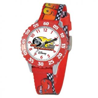 Disney Disney Cars Kids Time Teacher Watch  Red Printed Strap