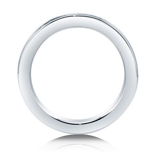 Emerald Cut Cubic Zirconia CZ 925 Sterling Silver Full Eternity Ring